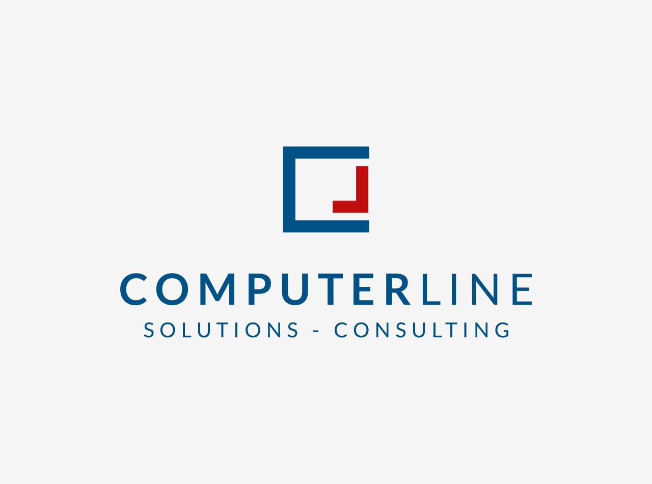 Logo Design für die ComperLine GmbH, auf hellem Fond