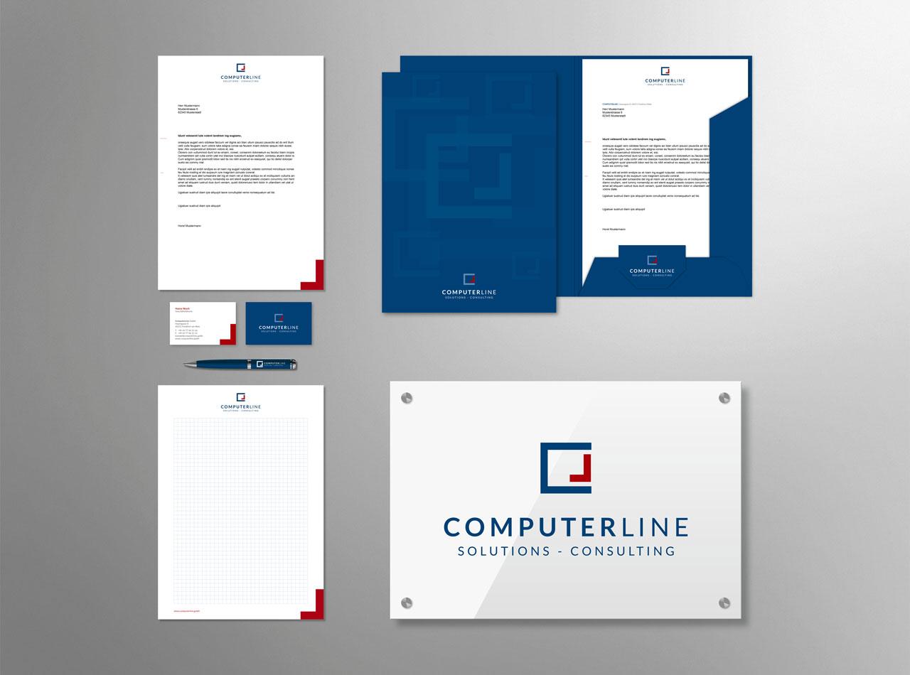 Geschäftsausstattung für die CompterLine GmbH 2