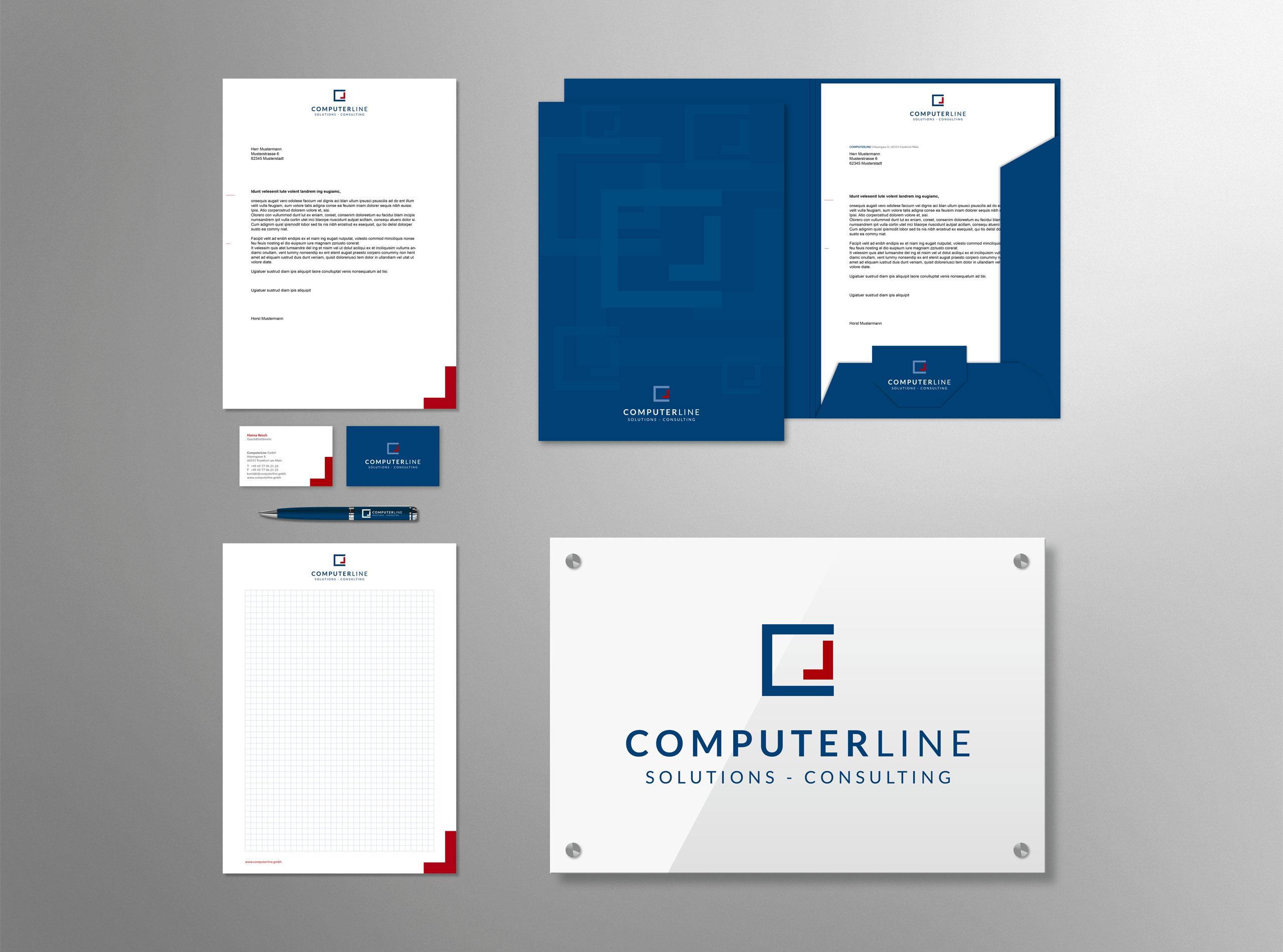 Geschäftsausstattung für die CompterLine GmbH 1