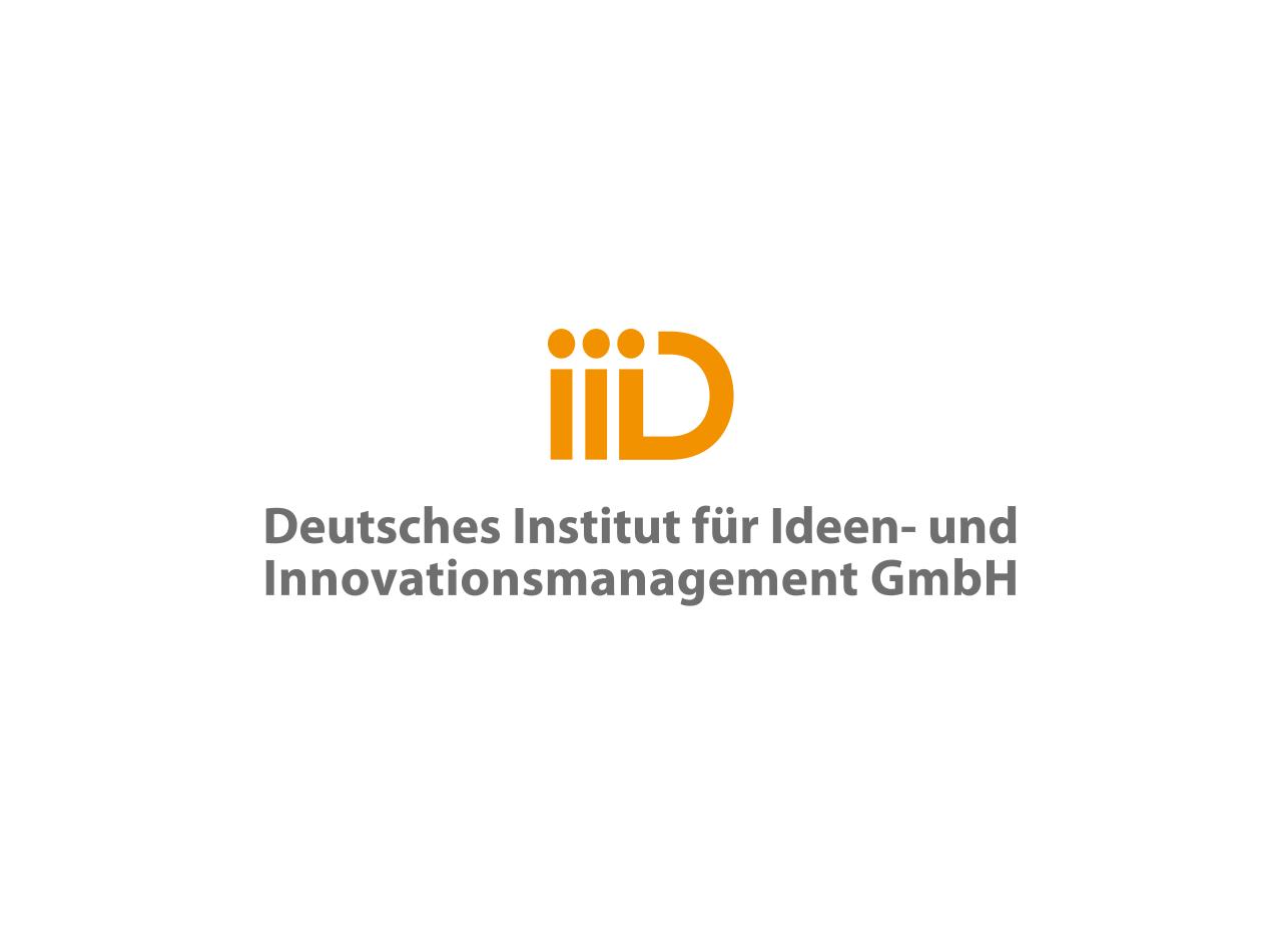 Logo Design, Initialen iiiD, auf weißem Fond, Deutsches Institut für Ideen- und Innovationsmanagement GmbH Deutschland