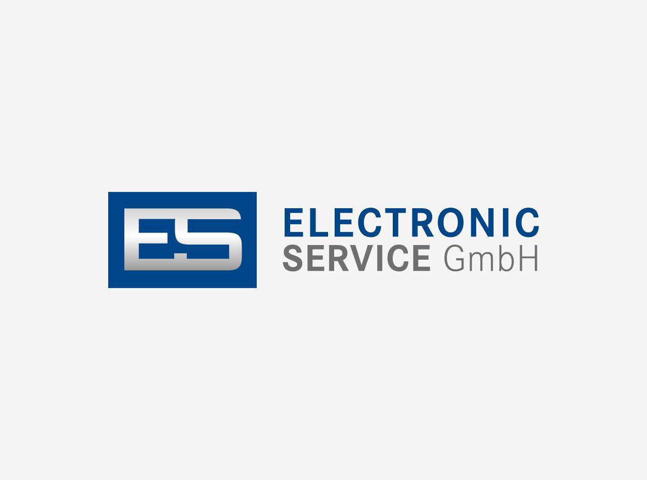Logo Design für die E.S. Electronic Service GmbH, Logo auf hellem Fond