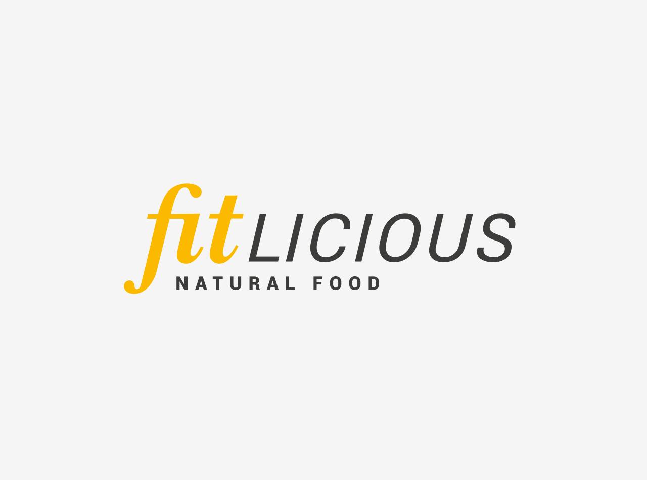 Logo-Design für die fitlicious GmbH & Co. KG, auf hellem Fond