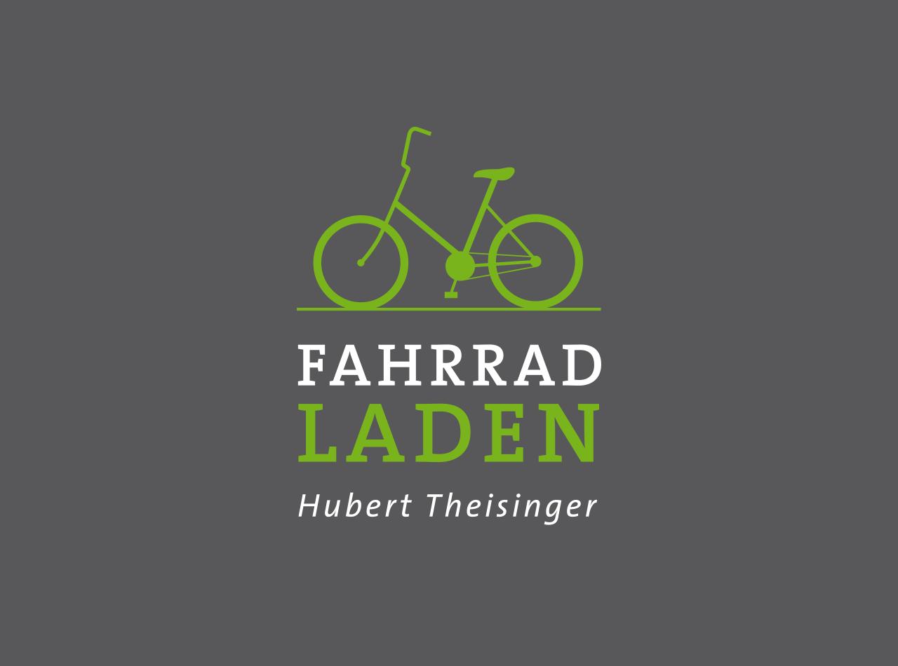 Logo-Design für einen Fahrradladen in Frankfurt am Main, auf dunkelgrauem Fond