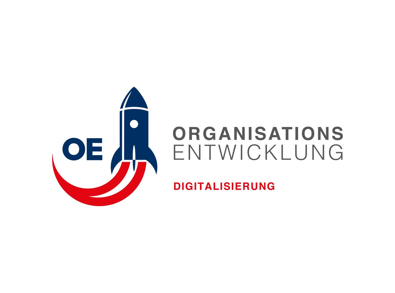 Logo-Design für OE Organisations-Entwicklung, Frankfurter Rot-Kreuz Kliniken