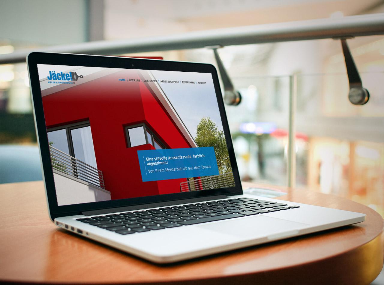 Responsive Webdesign für den Malerbetrieb Jäckel Maler & Bautenschutz im Taunus 5