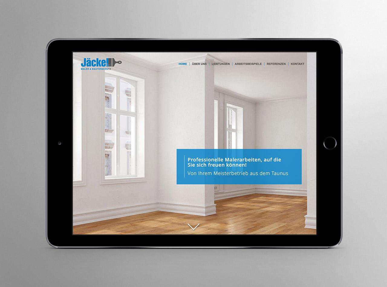Responsive Webdesign für den Malerbetrieb Jäckel Maler & Bautenschutz im Taunus 1