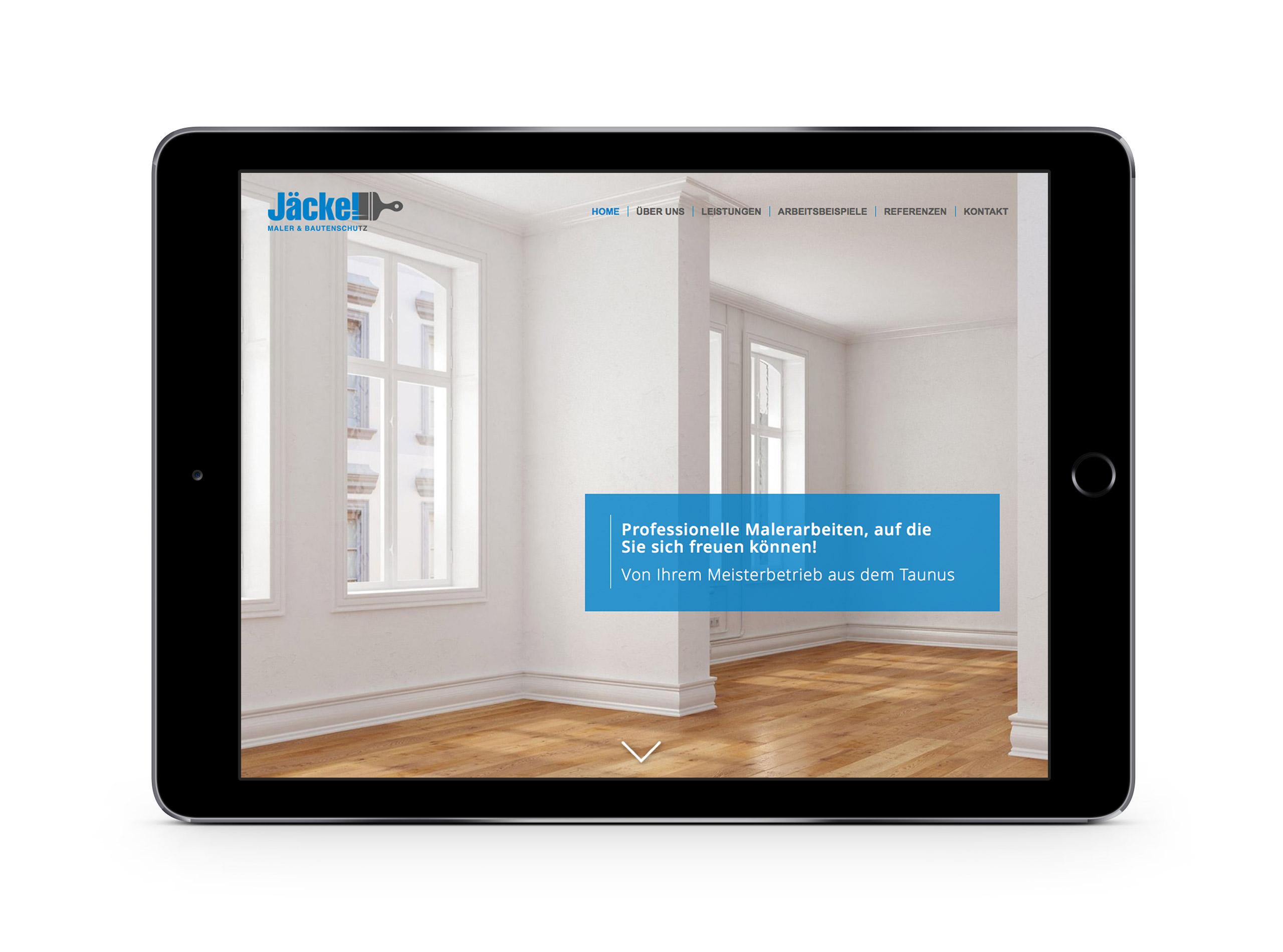 Responsive Webdesign für den Malerbetrieb Jäckel Maler & Bautenschutz im Taunus 4