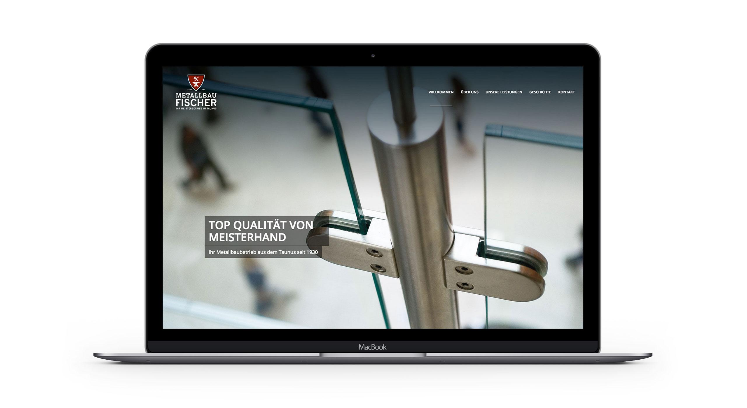 Responsive Homepage, Desktopversion für Metallbau Fischer 3