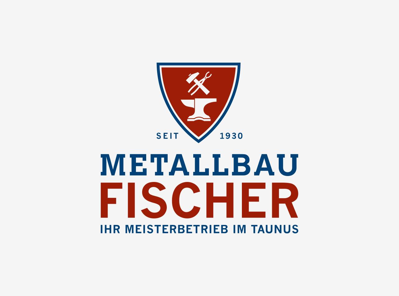 Logo Design für Metallbau Fischer, Logo auf hellem Hintergrund