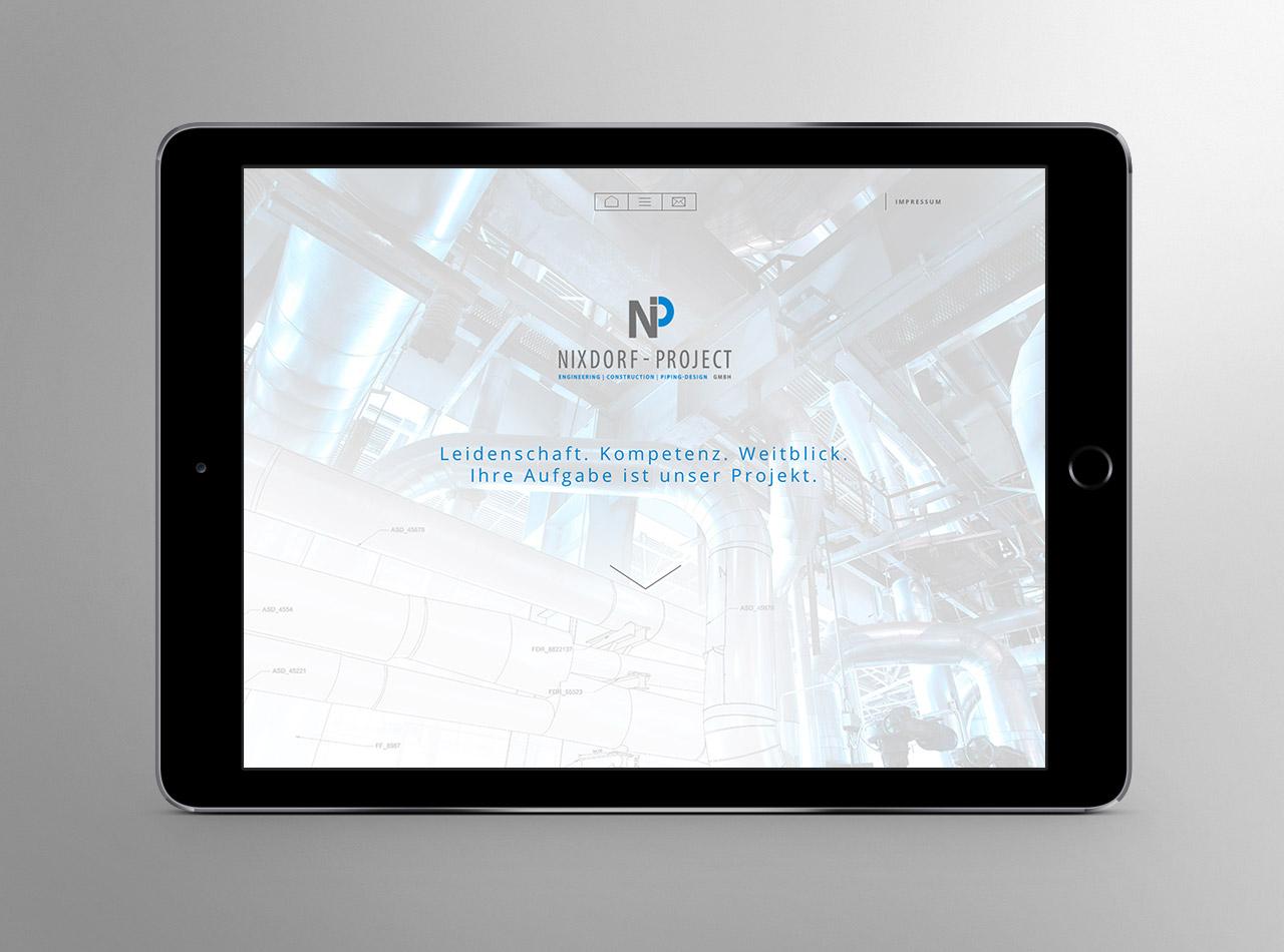 Homepage für die Nixdorf - Project GmbH 1