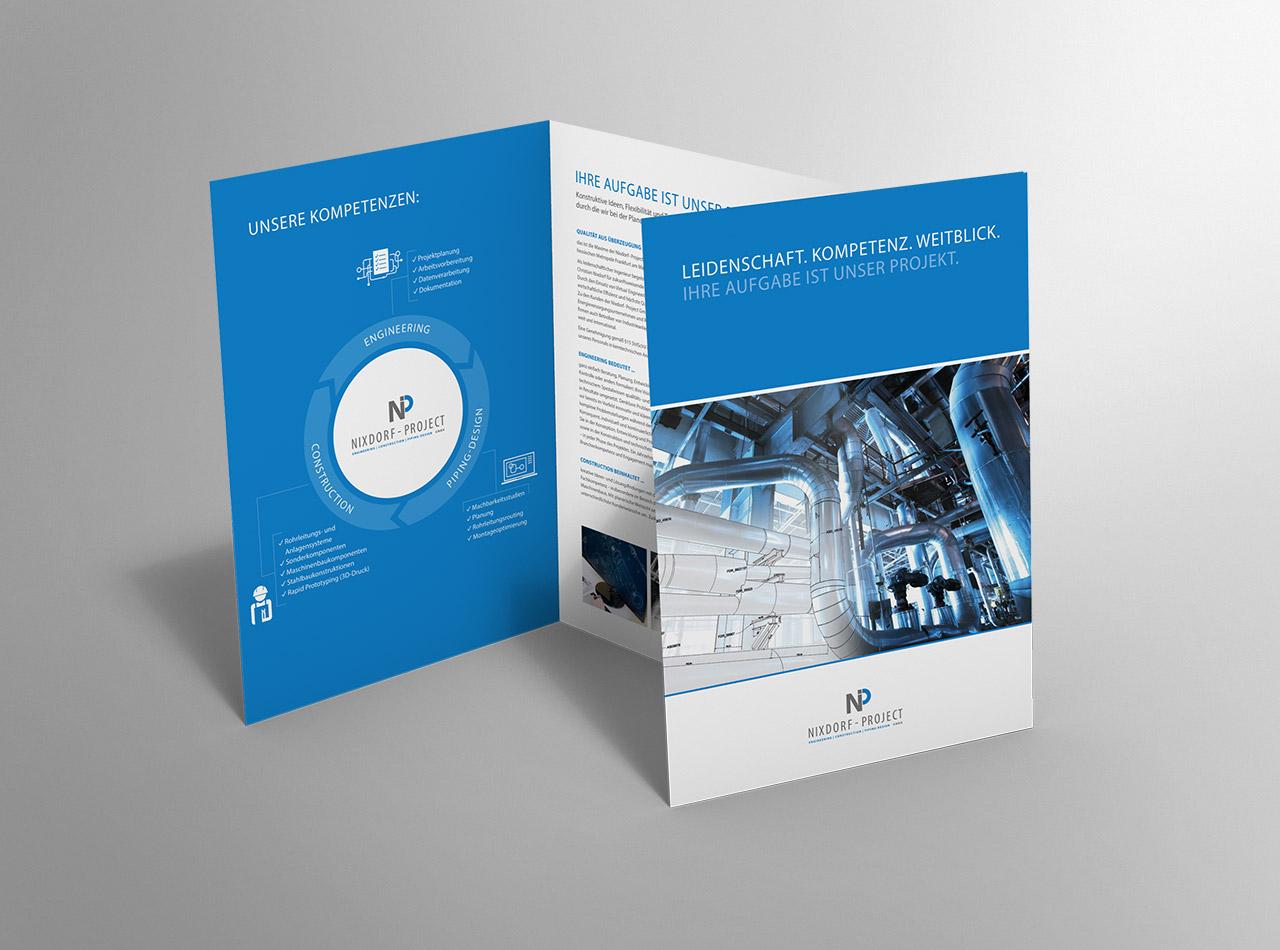 Imagebroschüre für die Nixdorf - Project GmbH 1