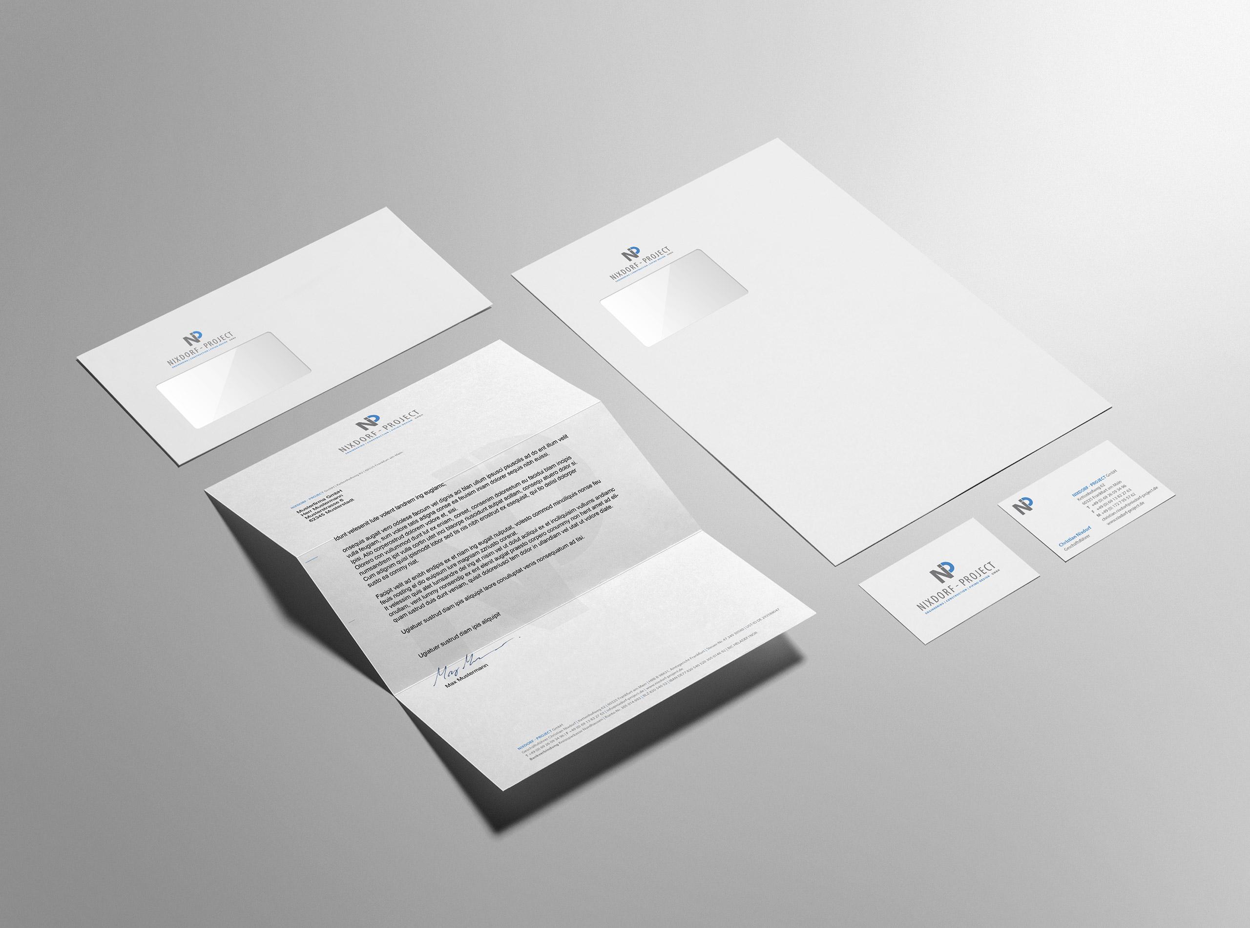 Geschäftsausstattung für die Nixdorf - Project GmbH 2