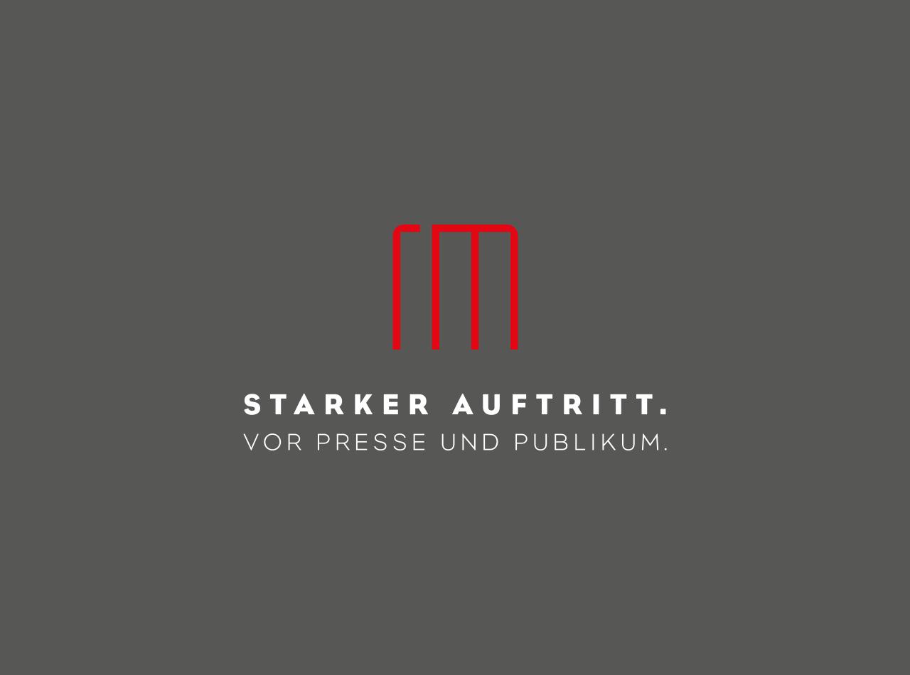 Logo Design, Starker Auftritt für Richter & Münzner, Logo auf dunklem Hintergrund