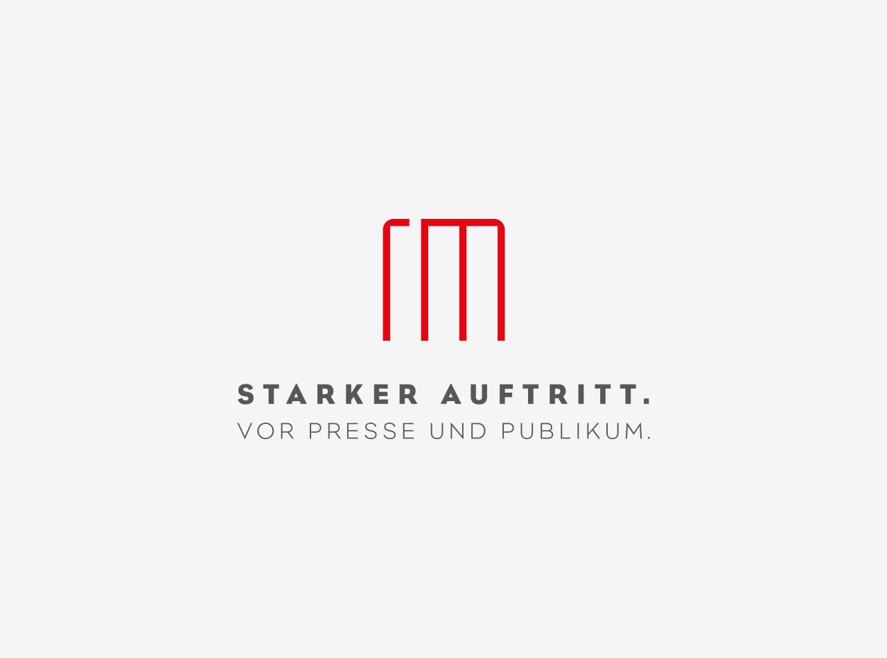 Logo Design, Starker Auftritt für Richter & Münzner, Logo auf hellem Hintergrund