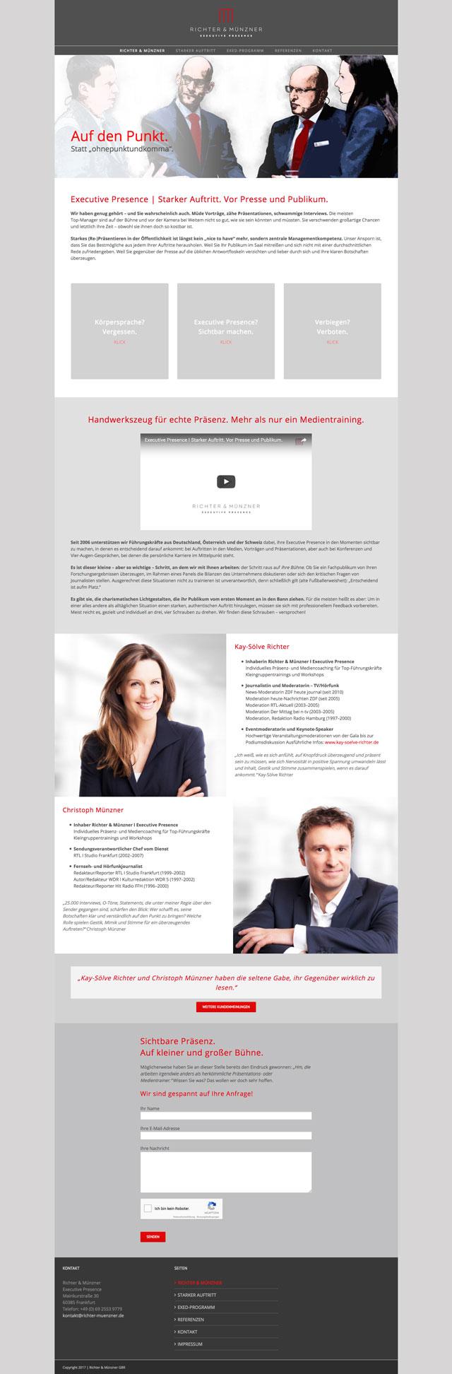 Responsive Homepage für Richter & Münzner 1