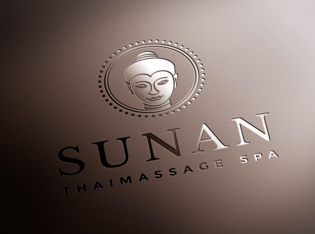 Logo Prägung SUNAN Thai Massage 1