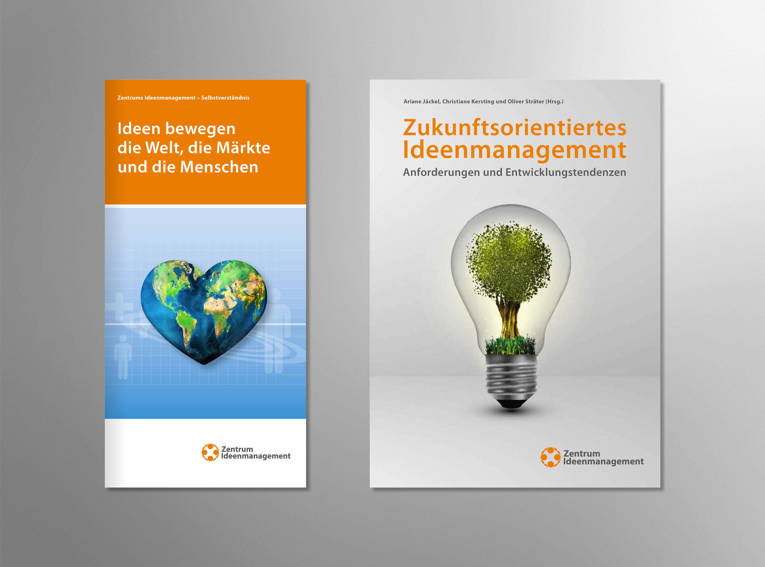 Zentrum Ideenmanagement Flyer und Buchumschlag-Gestaltung 2