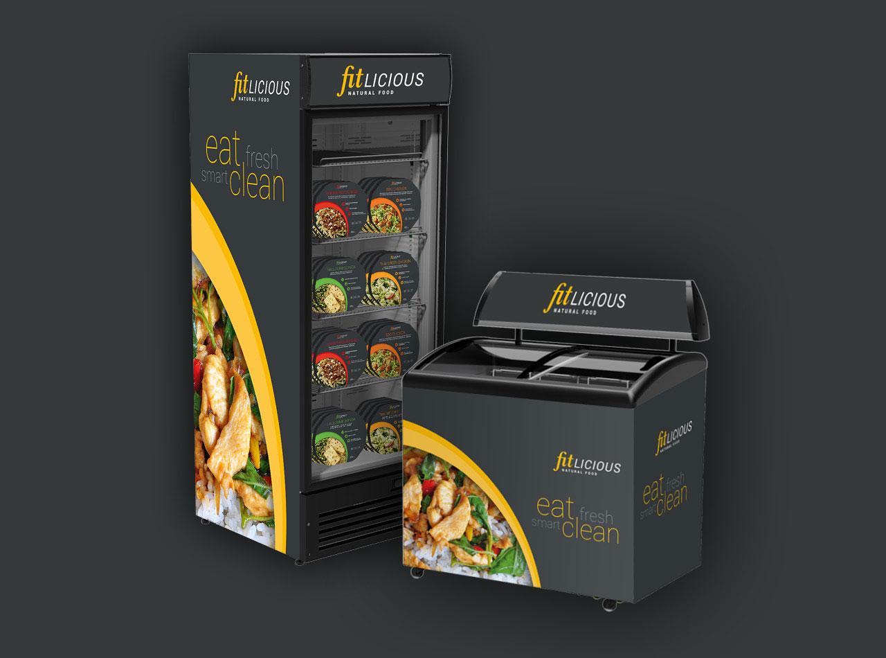 fitlicious Gefrierschränke mit Branding und Verpackung