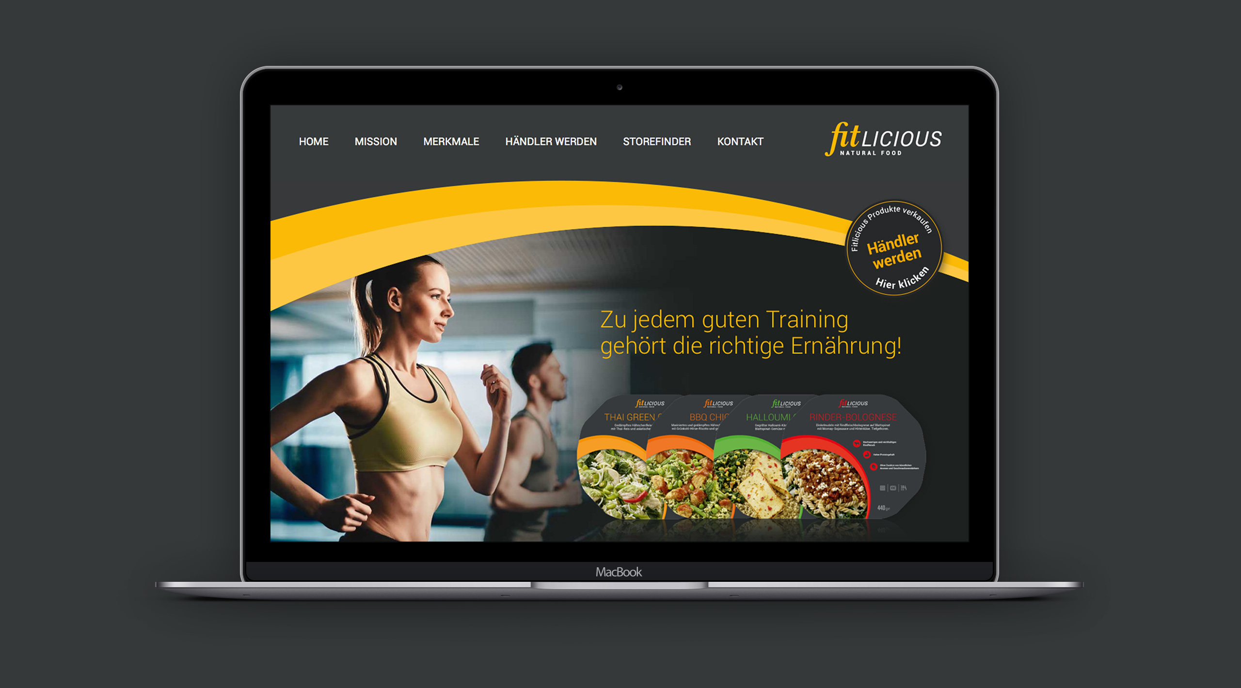 fitlicious Homepage mit responisve Webdesign