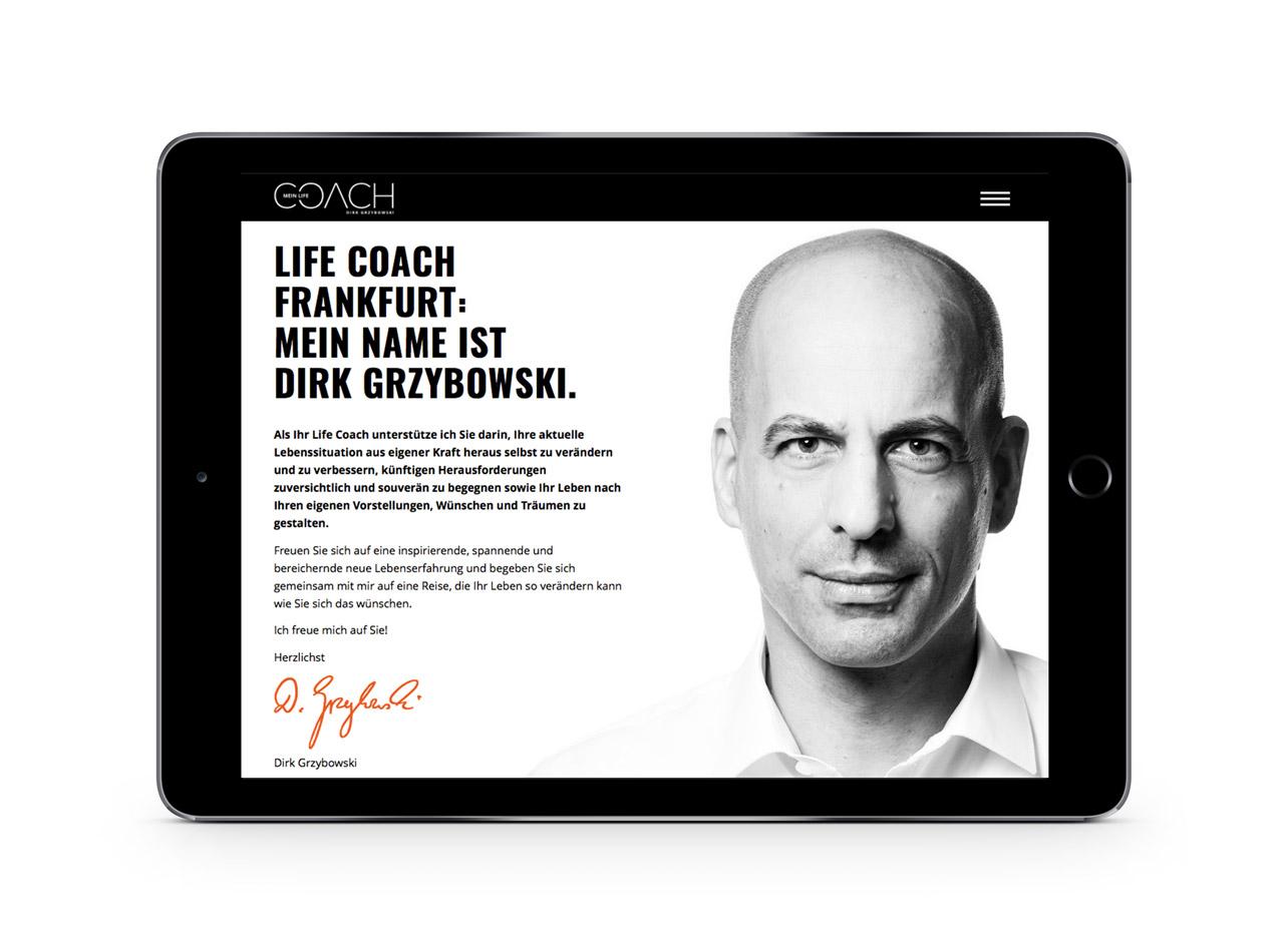 Responsive Homepage für Mein Life Coach 2