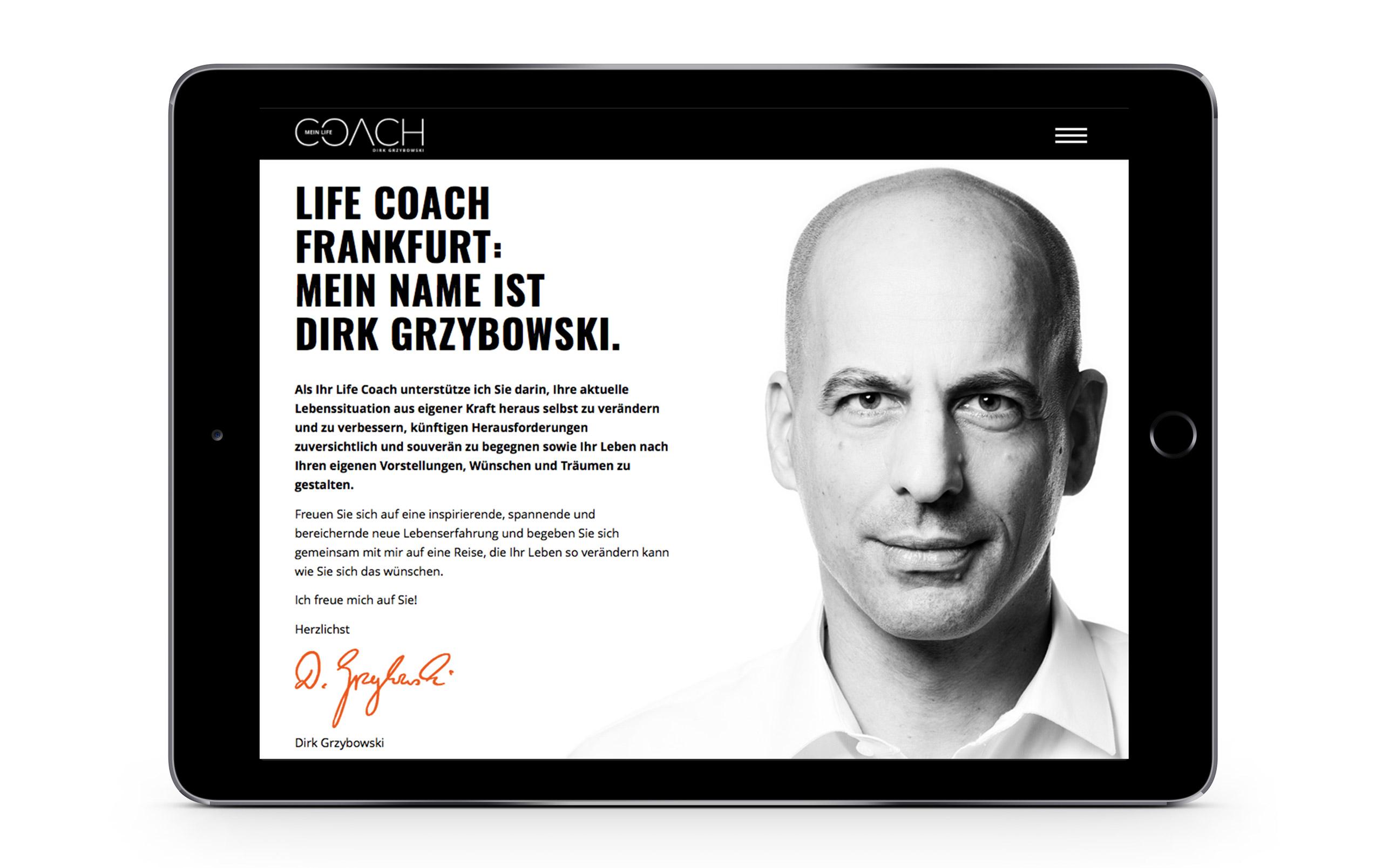 Responsive Homepage für Mein Life Coach 3