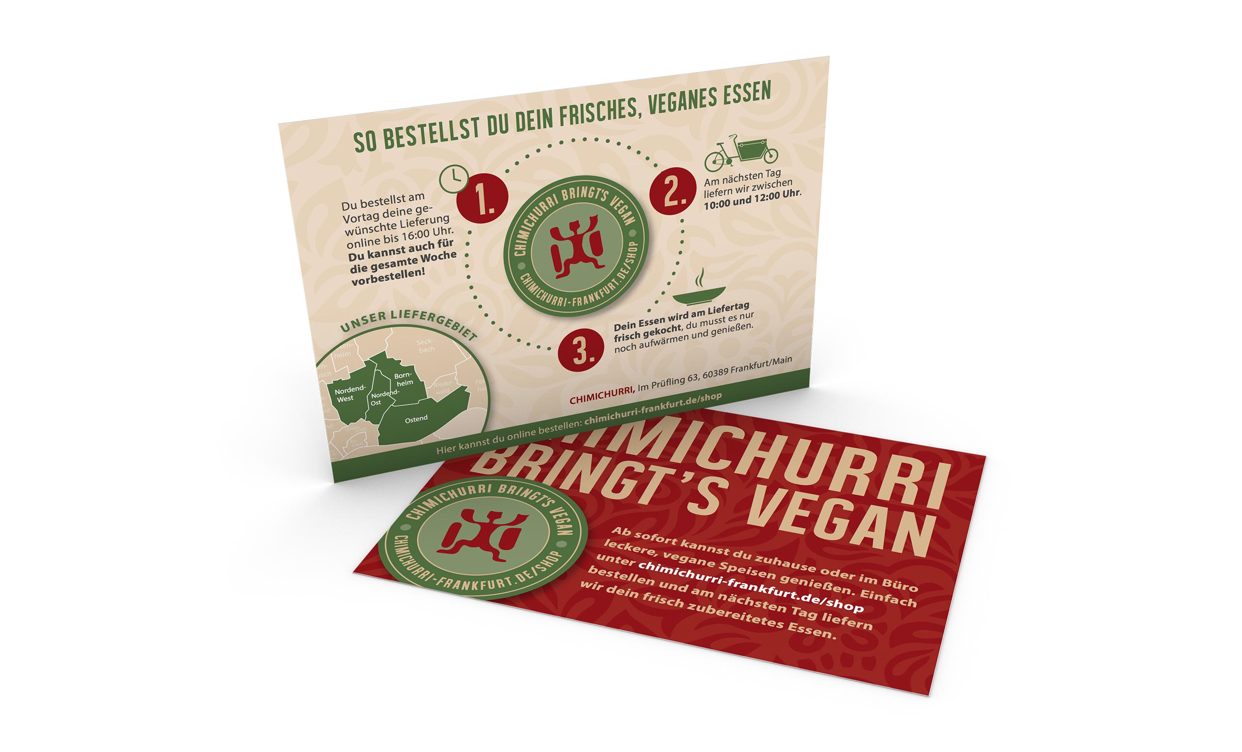 CHIMICHURRI veganes Restaurant Postkarten