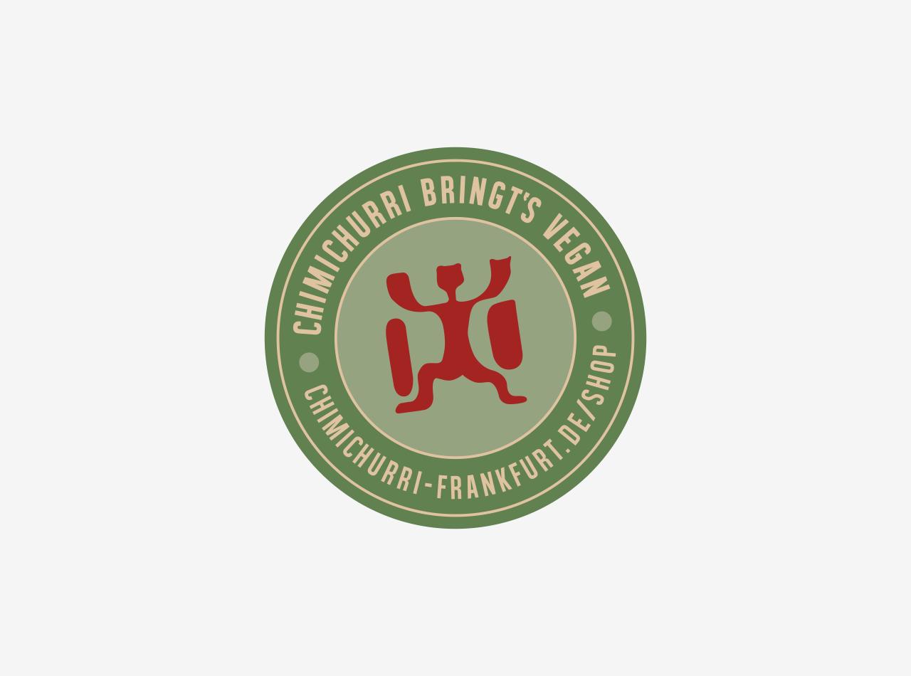 Logo-Design, Shop-Version für das vegane Restaurant CHIMICHURRI in Frankfurt