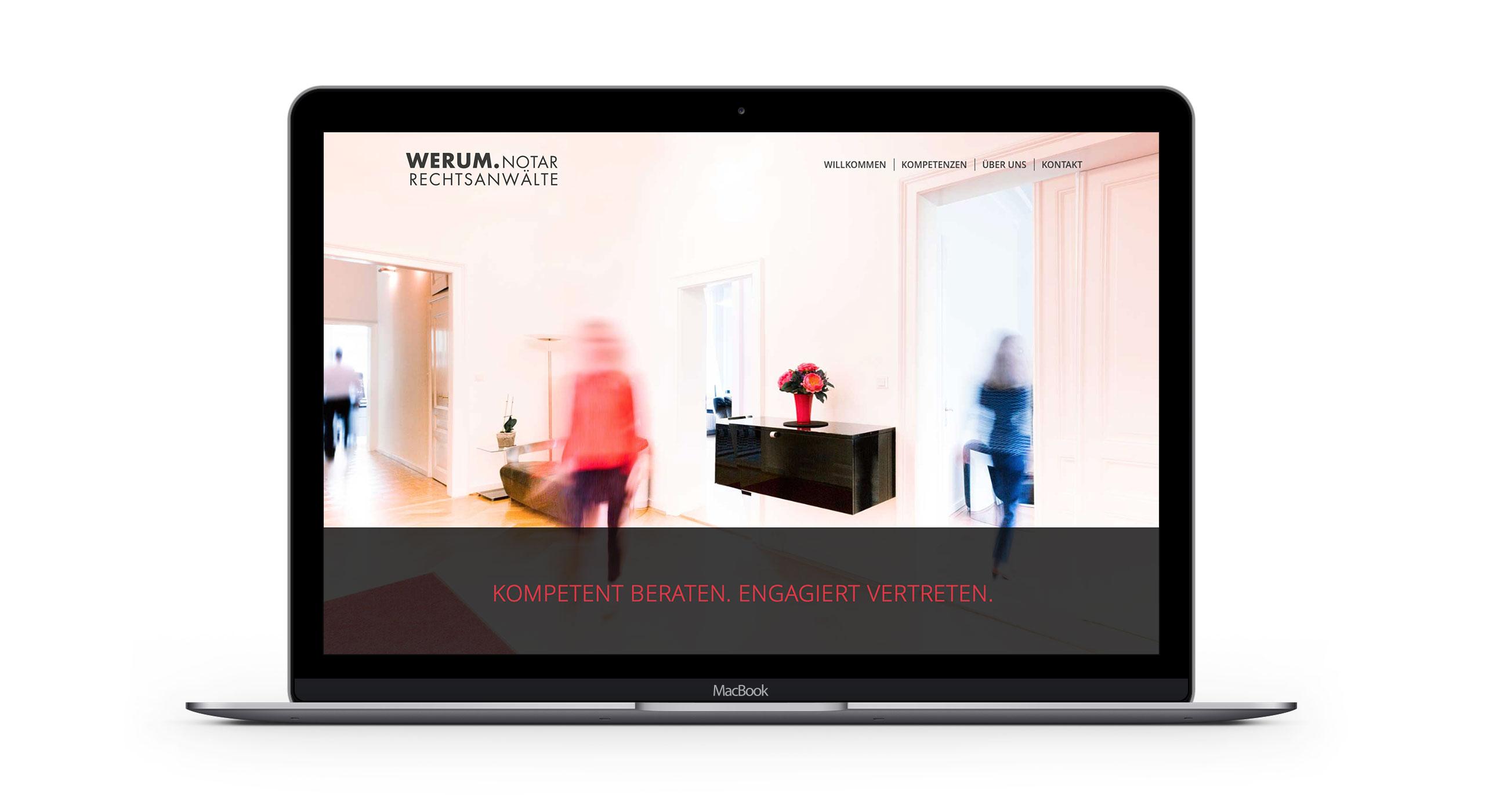 Responsive Webdesign für WERUM Rechtsanwälte und Notariat 2
