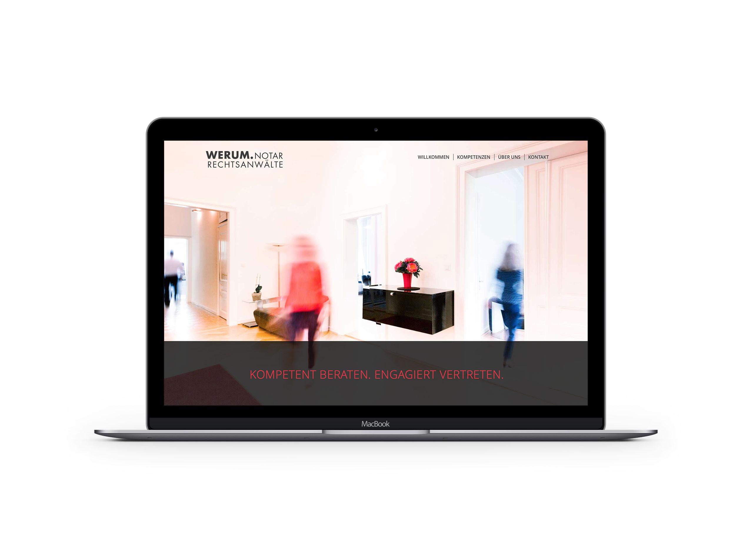 Responsive Webdesign für WERUM Rechtsanwälte und Notariat 1