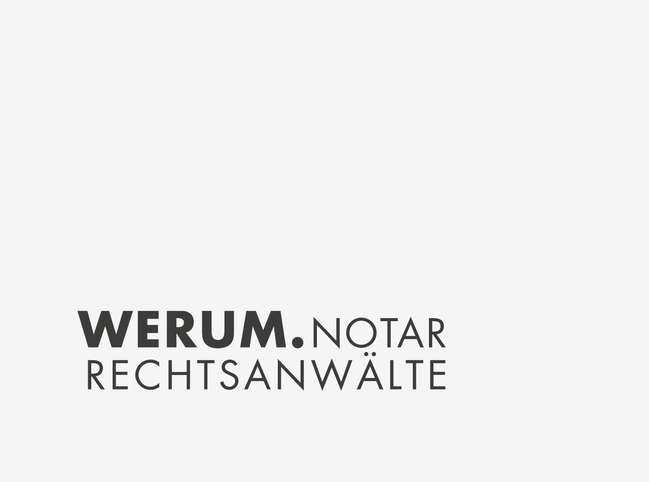 Logo Design für WERUM Rechtsanwälte, positiv Logo