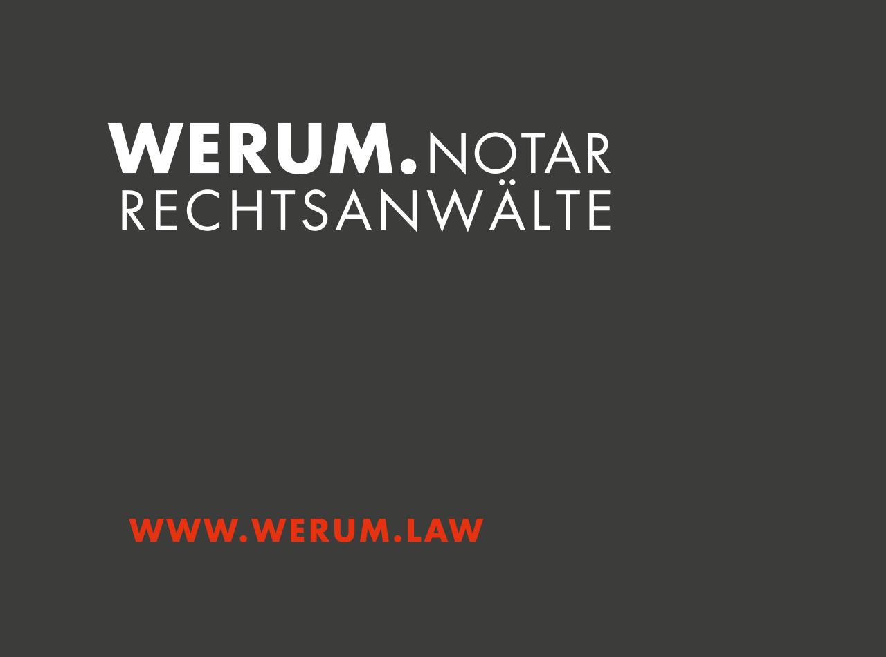 Logo Design für WERUM Rechtsanwälte + www-Adresse