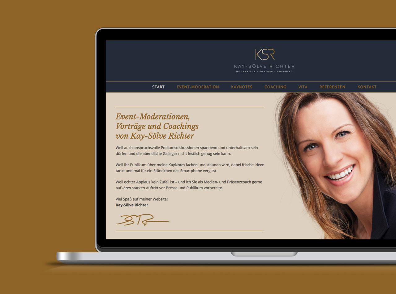 Homepage Webdesign für Kay-Sölve Richter