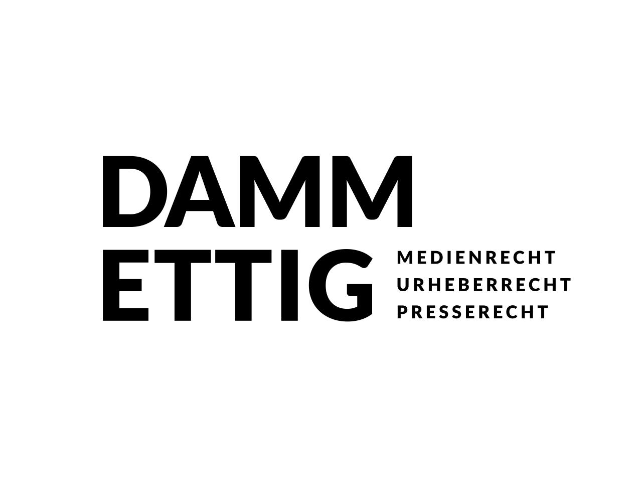 Logo Design für die Rechtsanwaltskanzlei DAMM ETTIG in Frankfurt
