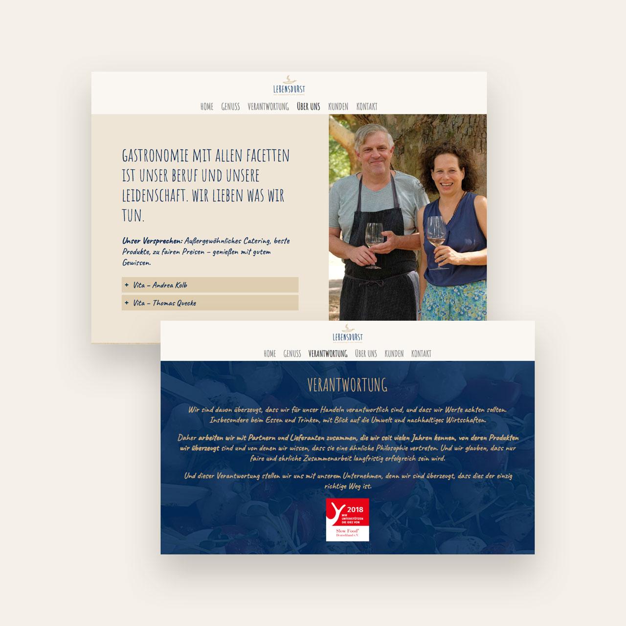 Lebensdurst Catering Homepage