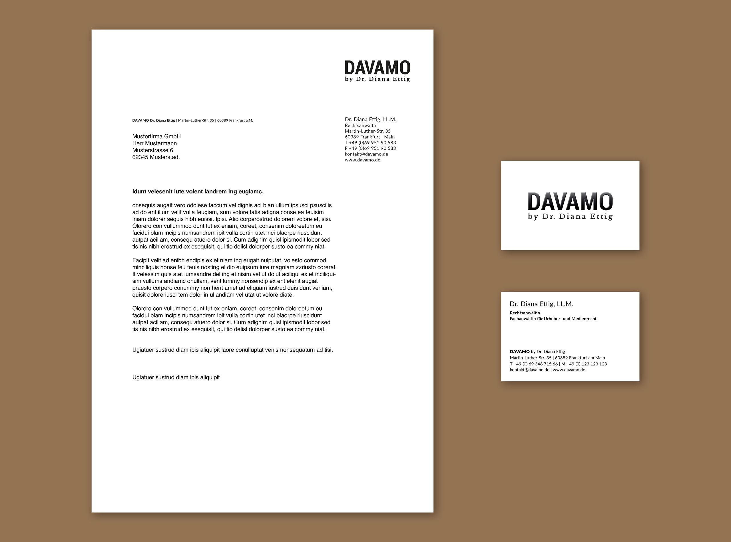 Rechtsanwalt Geschäftsausstattung, Briefpapier und Visitenkarte