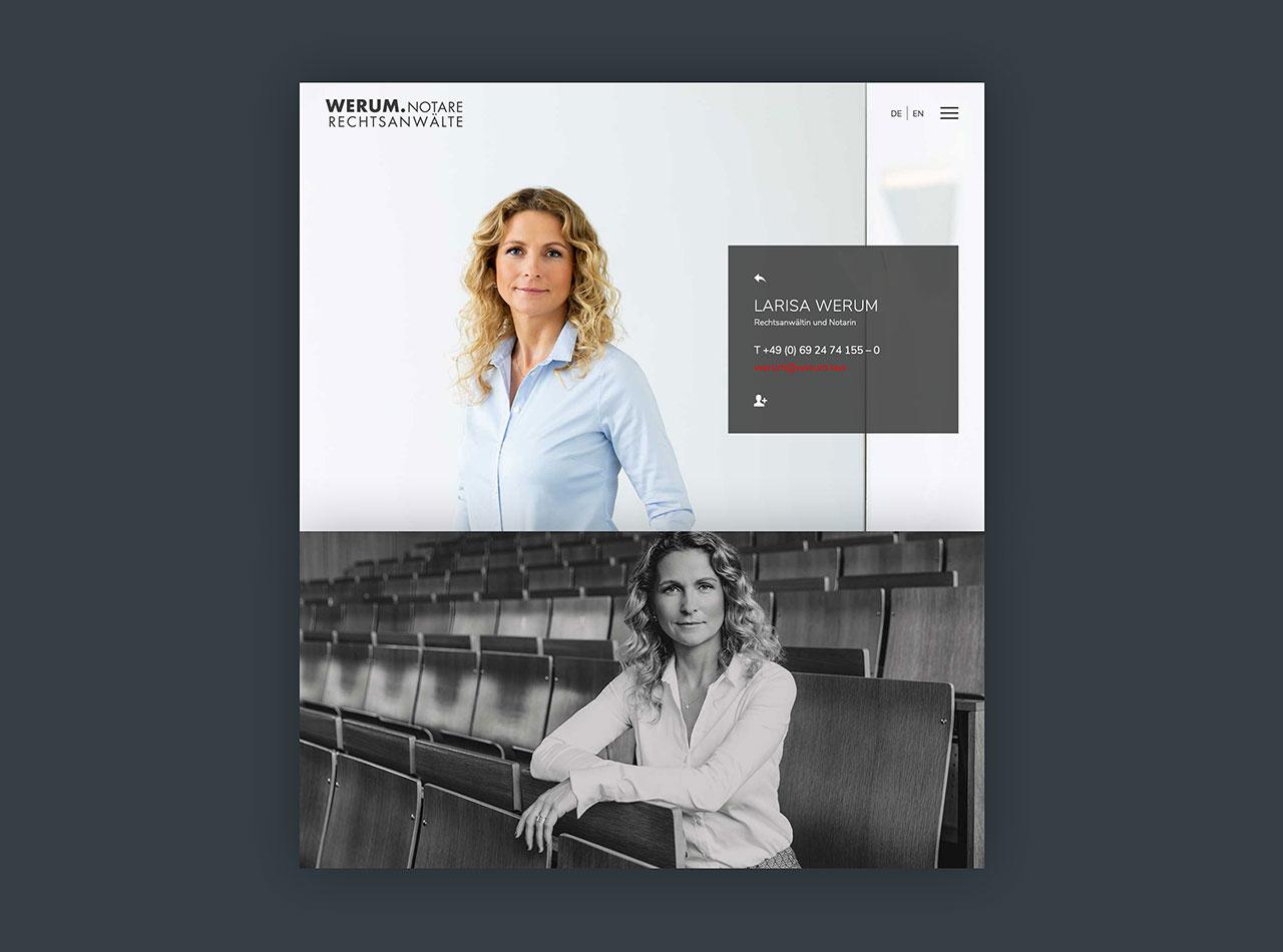 Responsive Homepage für Rechtsanwälte und Notare