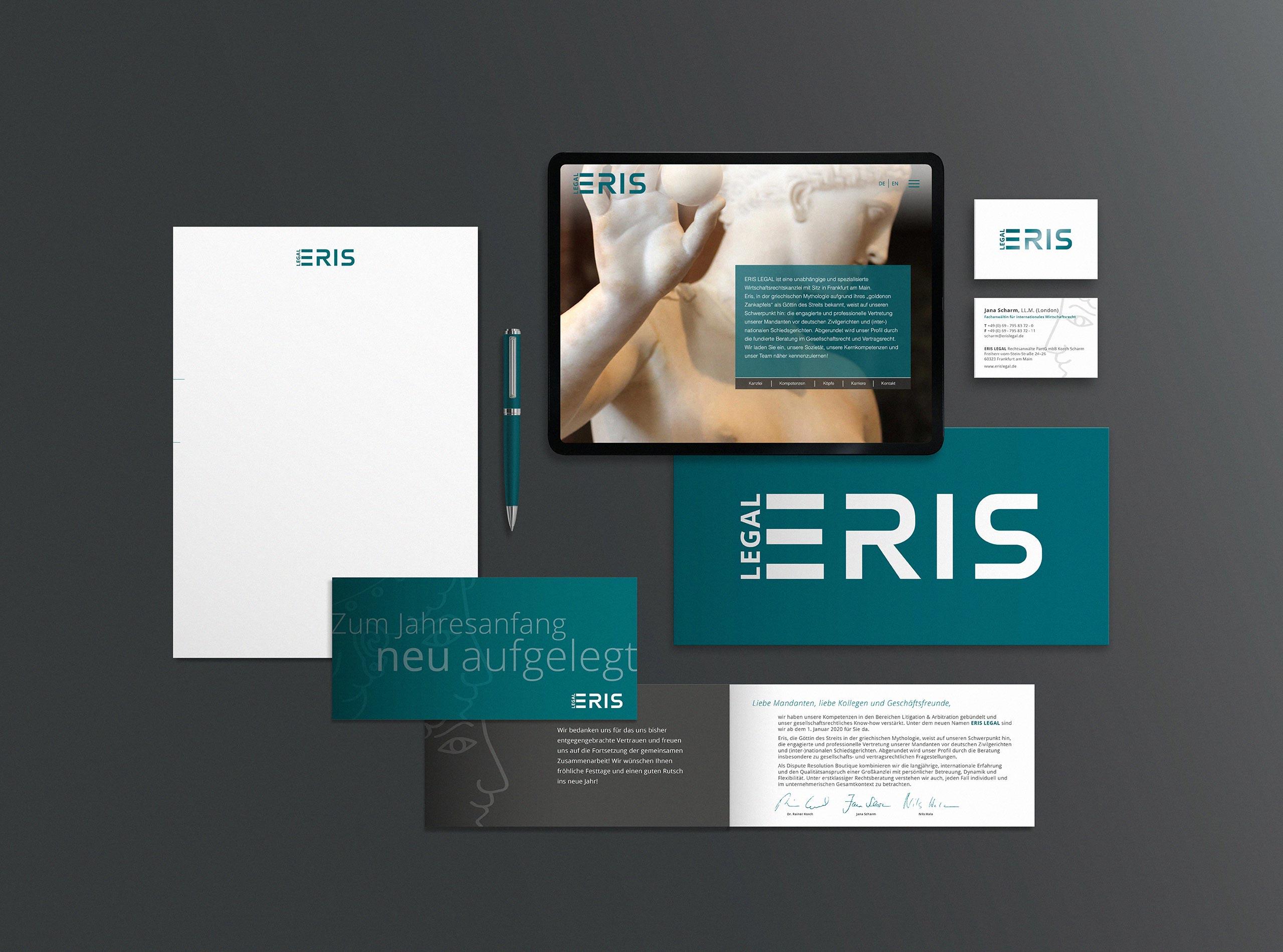 Wirtschaftskanzlei und Rechtsanwalt – Corporate Design Web / Print