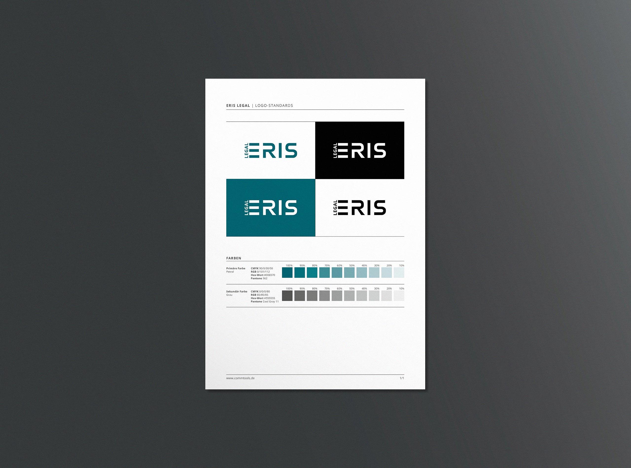 Wirtschaftskanzlei und Rechtsanwalt – Corporate Design Festlegung der Logostände und Farbwelt